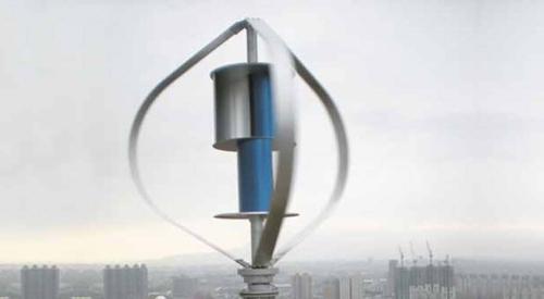 Turbina híbrida eólica vertical 3000W
