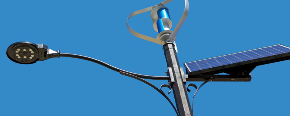 Hybrid Street Light Using Sun Wind And Battery